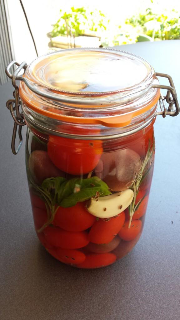 Tomates lacto-fermentées