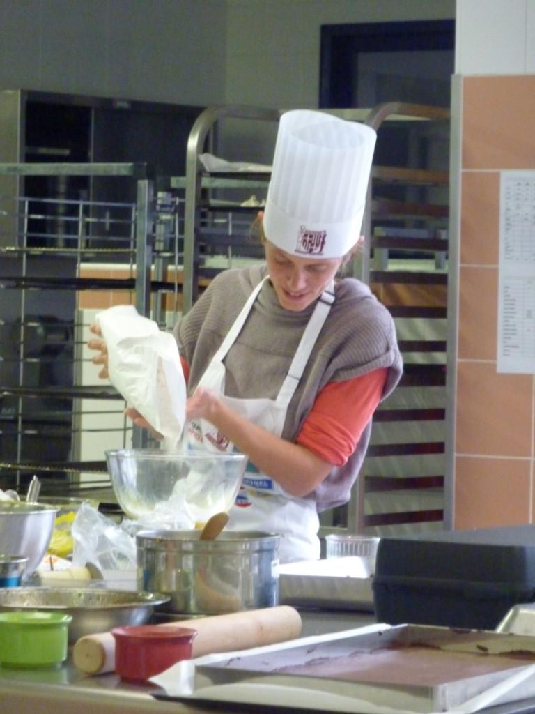 Coralie, Top Chef de notre AMAP pendant le concours des Toques Éthiques à Bonneville