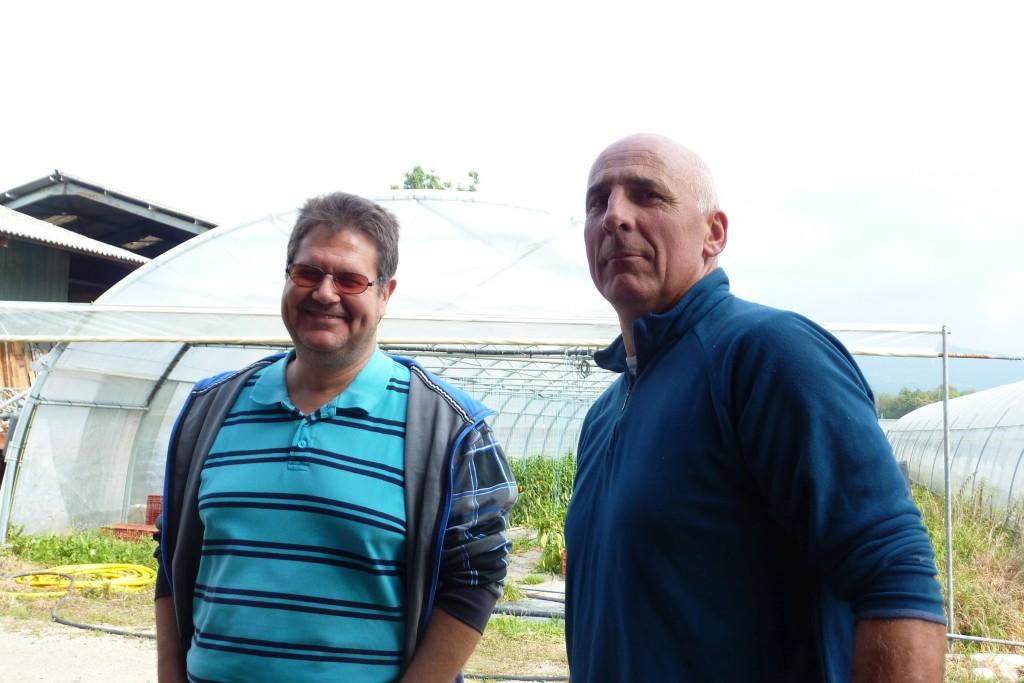 Super JP et Joël, Président de l'AMAP de Versonnex