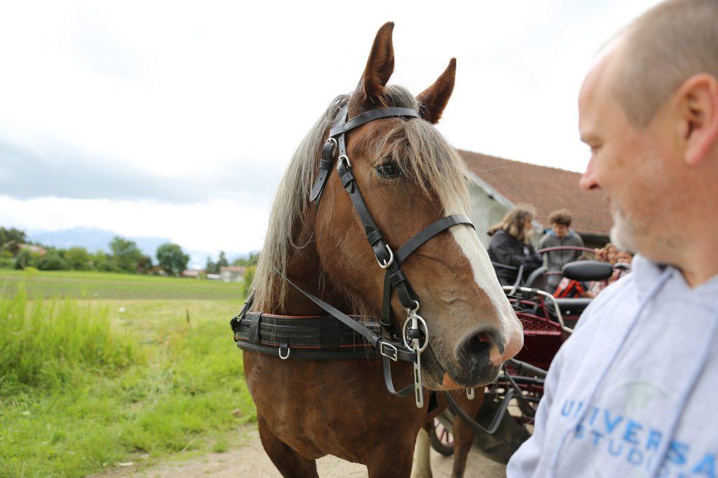 Un long échange muet entre Belouna et Ollivier