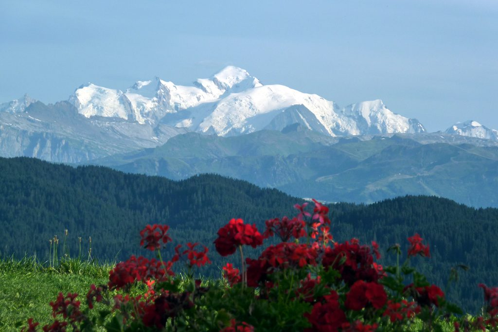 Le Mont-Blanc vue depuis