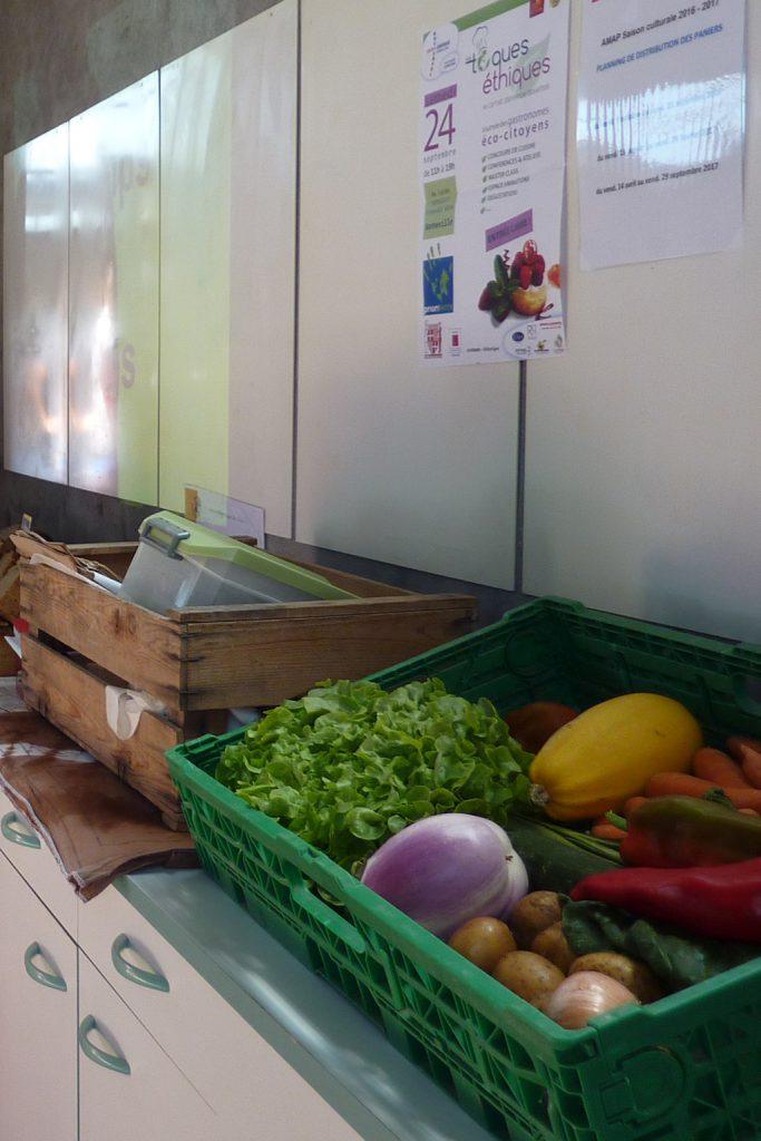 Un panier-témoin de légumes de l'AMAP