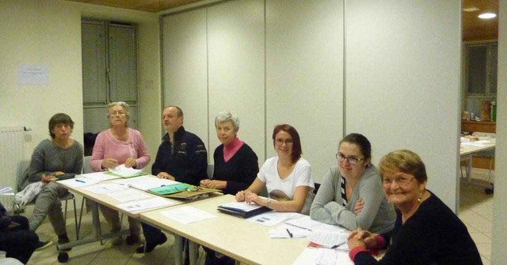 Les membres du collectif présents à l'Assemblée Générale