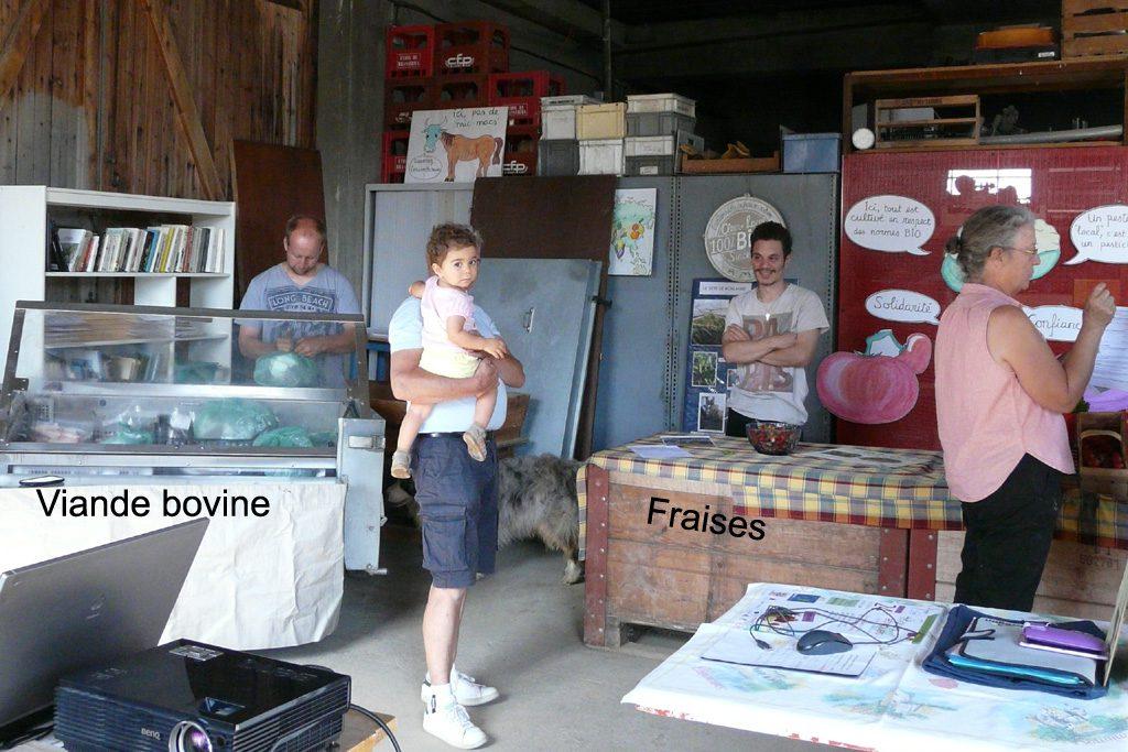 Biodup, producteur de viande bovine bio et Romain Ducret, producteur de fraises