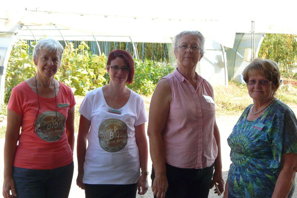 Les membres du Collectif de l'AMAP qui assurent la permanence aux Portes Ouvertes