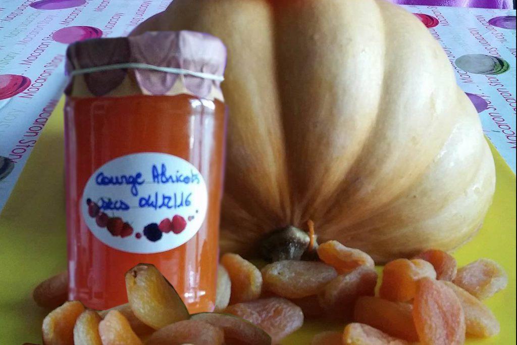 Confiture de potiron et abricots secs